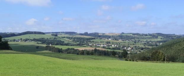 Panoramabild von den Höhen oberhalb von Bungenberg