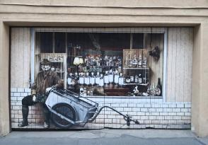Fotorealistisches Streetart-Werk in der Marienstraße