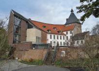 Rückwärtiger Blick zum Schloss Moers