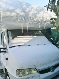 Eiszapfen an meinem Wohnmobil - wann hat es das zuletzt geggeben?