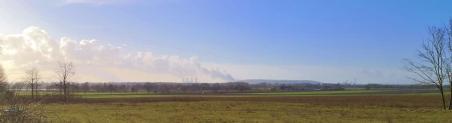 Alles Braunkohle oder was? Kraftwerks-Panorama bei Grevenbroich