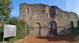 Ruine des ehemaligen Burgpalais