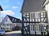 Fachwerkhäuser im alten Ortskern von Ruppichteroth