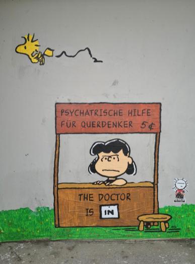 Graffiti in den Kasematten an der Rheinuferpromenade