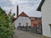 Rückseite des Tuchmachermuseums