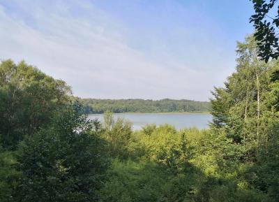 Blick vom Aussichtspunkt auf den Dammer Bergsee