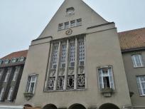 Rückseite des Rathaus