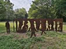 Skulptur am Müntepark beim Freibad