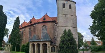 Panoramabild der Kirche St. Vincentius