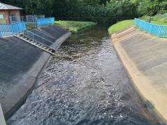 Abfluss der Soeste aus dem Stausee