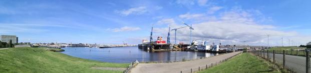 Panoramabild vom Hafen