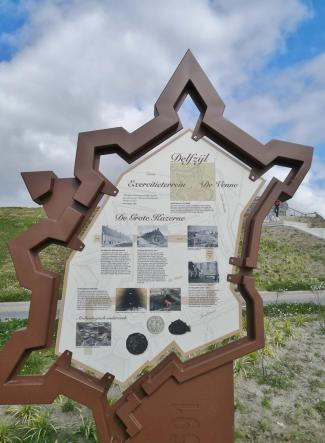 Umriss der mittelalterlichen Bastion Delfzijl, die heite nicht mehr existiert