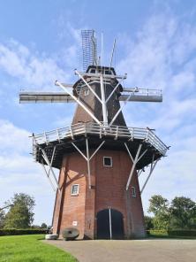 Zeldenrust-Mühle auf den Wallanlagen im Südwesten der Stadt