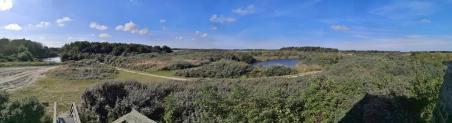 Panoramablick von einem Aussichtsstand in der Marnewaard