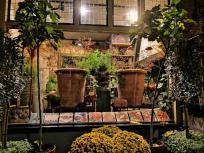 Blick in einen Blumenladen in der Lange Hoofstraat