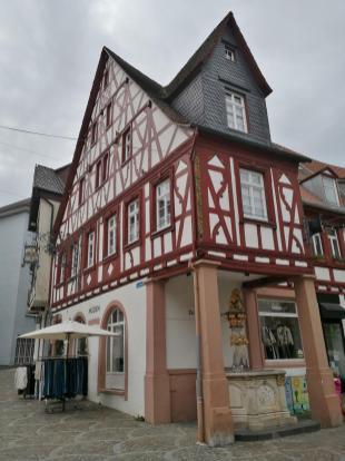 """Gasthaus """"Deutsches Haus"""" mit Löwenbrunnen am Fischmarkt"""