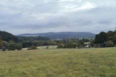 Blick hinter Langweiler zur Talsperre