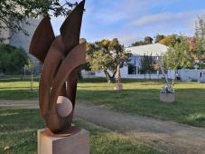 Skultpturengarten zwischen Stadthalle, Malzfabrik und Kreishaus