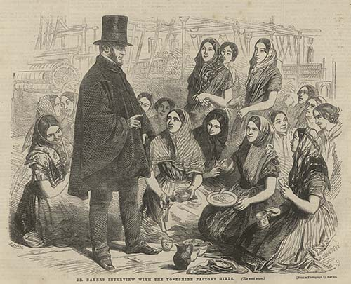 """Dr. Baker's Interview with the Yorkshire Factory Girls,"" ""British Workman"" 16 (1856): 61."