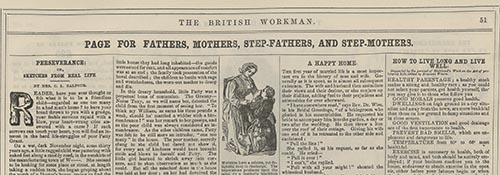 "Clara Lucas Balfour. ""Perseverance; Or, Sketches from Real Life."" ""British Workman"" 13 (1856): 51."