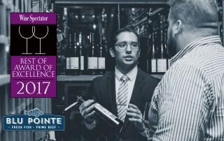 Blu Pointe, Winner of Wine Spectator's Best of Award of Excellence 2017
