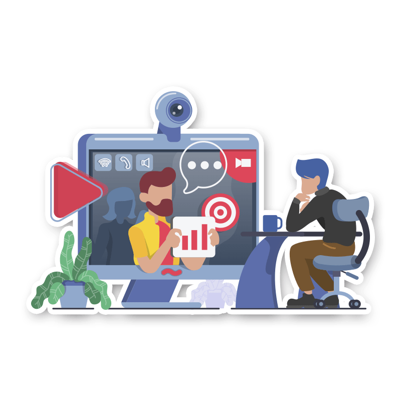 BluCactus Diseñador web mostrando resultados al cliente