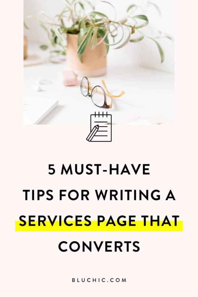 22 Must-Have Tips for Writing a Services Page That Converts - Bluchic