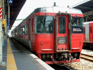 KIHA 185 series is the standard car for Yufu. (C) Sonic Rail Garden