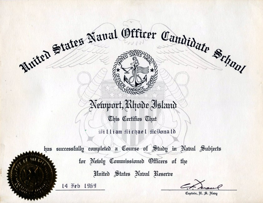 Blue and Gold 1968-71 – Page 4 – Active Duty in the US Navy