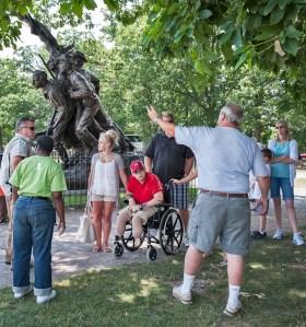 Briefing at North Carolina Statue