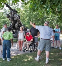 Briefing at the North Carolina Statue