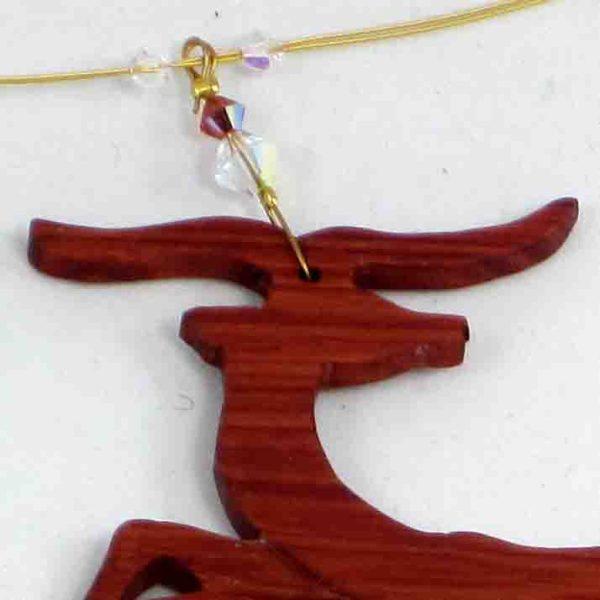 collier bois de rose impala 3 blue baobab