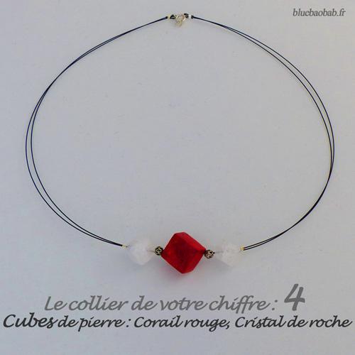 numerologie-collier-4-cubes-corail-rouge
