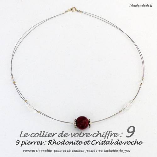 numerologie-collier-9-rhodonite-rose-gris