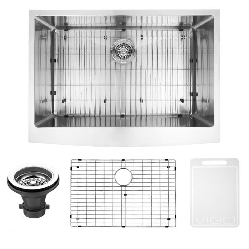 vigo vgr3020ck1 30 inch farmhouse stainless steel kitchen on farmhouse sink lowest price id=56165