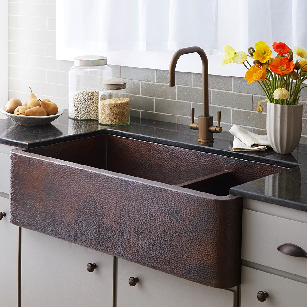 native trails farmhouse duet pro 40 inch double bowl on kitchens with farmhouse sinks id=89524