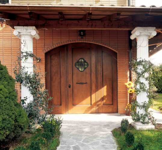 steel framed entry door in classic style
