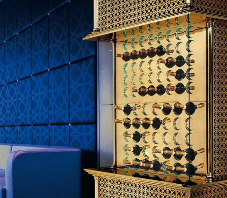 Climate Controlled Wine Storage in gold