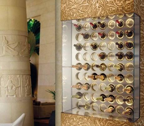 Ornate gold Wine storage Unit