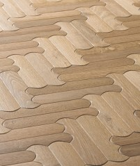 Natural rounded Oak Wooden Flooring