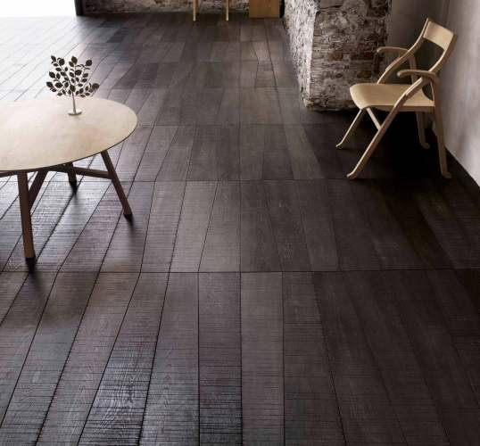 Dark Wooden Flooring diagonal layout