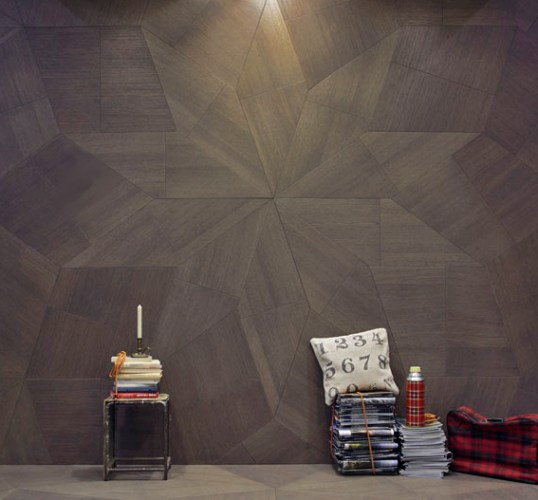 Wooden Flooring radial layout for walls