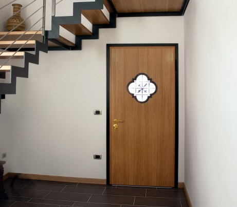 Security Entrance Door with glass pane