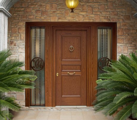 Classic Entry Door with security glass system