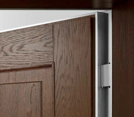 concealed hinge brown wood door