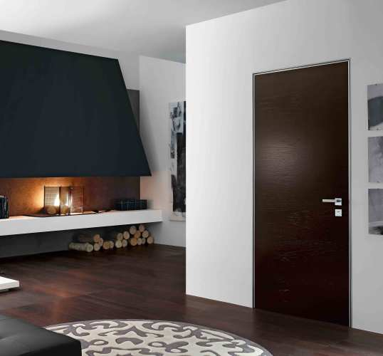 architectural design black interior door