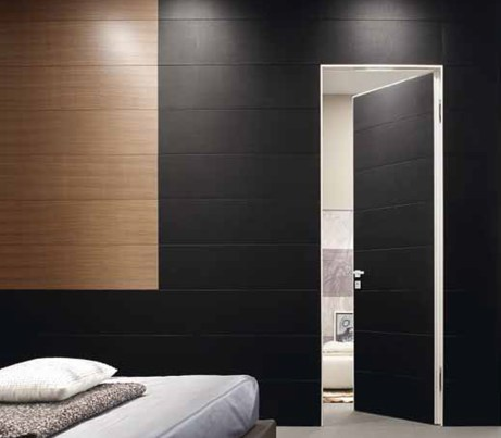 Black flush interior Door for Hotels
