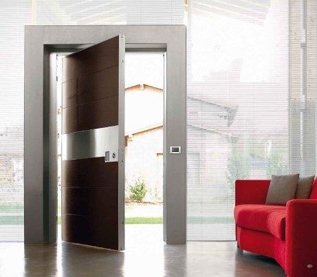 Security Door with Metal Architrave