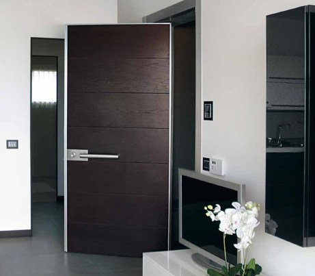 Security Entrance Door in wenge