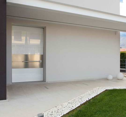 architectural design white pivot door